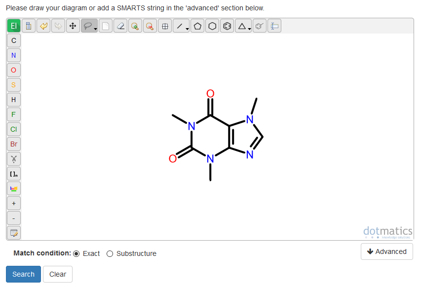 Screenshot of WebCSD v2 structure search