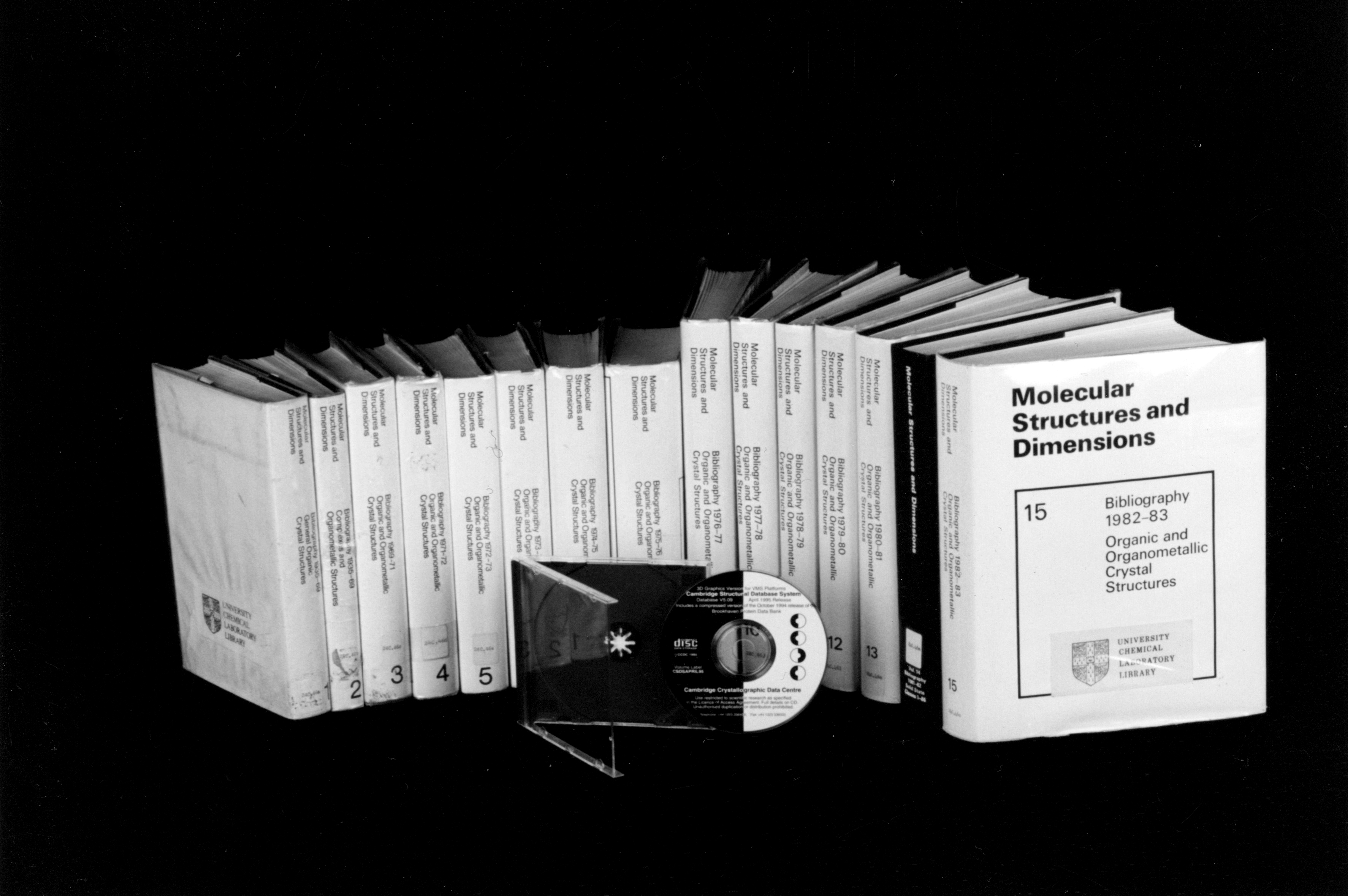 Early versions of the CSD in book form alongside a later version of the CSD on CD
