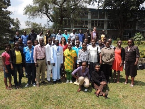 "Participants in the second half of the Kongamano ""An Introduction to Computational Chemistry and In-Silico Visualization"" held at the University of Nairobi, Kenya"