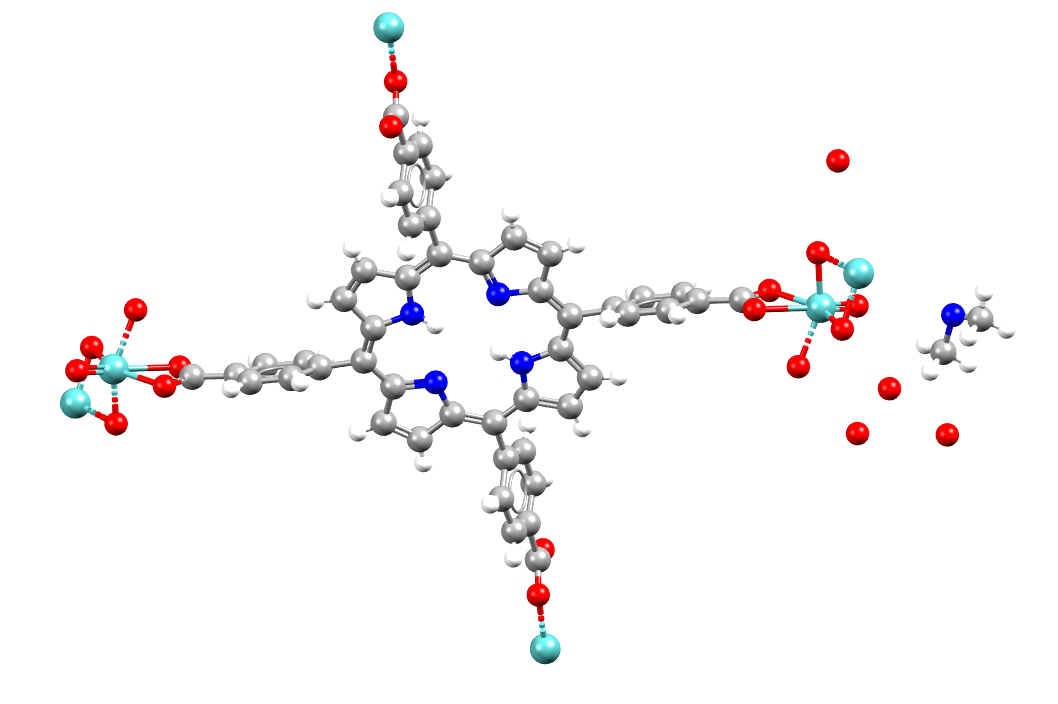 Refcode WUTXUH from the Cambridge structural database CSD MOF collection