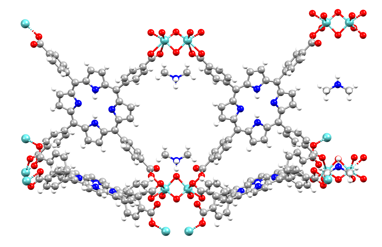 Example of a MOF structure in the CSD - refcode WUTXUH