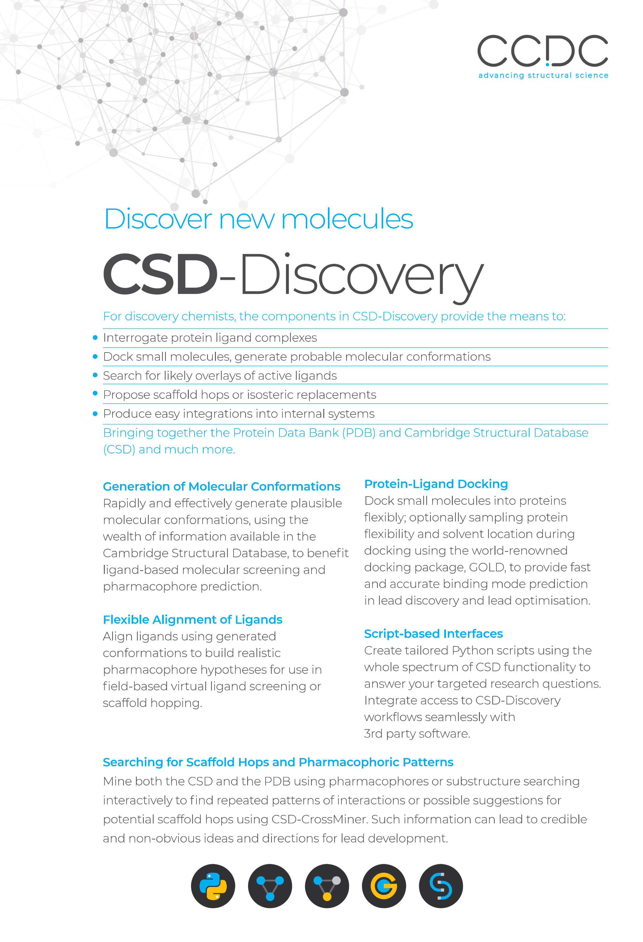 Csd Discovery Computer Aided Drug Design Software The Cambridge Crystallographic Data Centre Ccdc